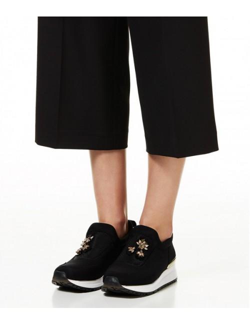 Кроссовки Liu Jo Ami с драгоценными вышитыми аппликациями черные