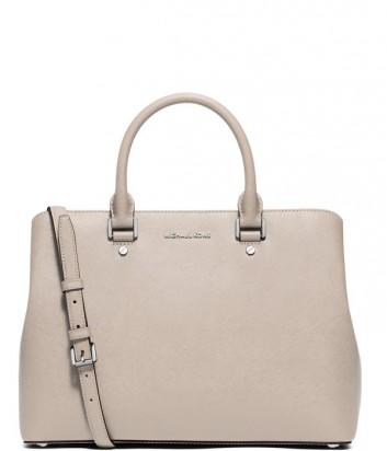 Роскошная сумка Michael Kors Savannah из сафьяновой кожи серая
