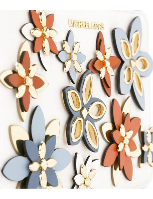 Яркая сумка Michael Kors Flowers декорирована цветочной аппликацией