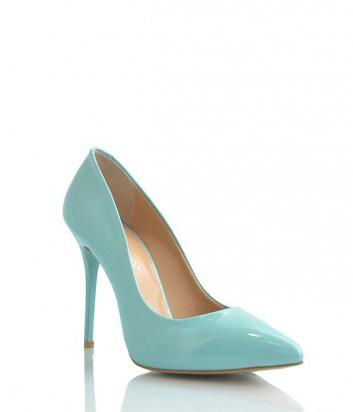 Лаковые туфли-лодочки Lottini на высоком каблуке нежно-голубые