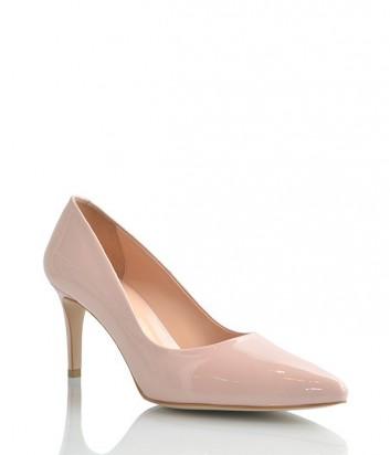 Лаковые туфли-лодочки Lottini на среднем каблуке пудровые