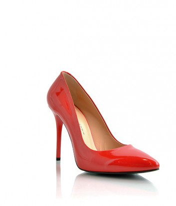 Лаковые туфли-лодочки Paoletti на высоком каблуке красные