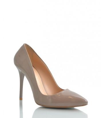 Лаковые туфли-лодочки Paoletti на высоком каблуке кофейные