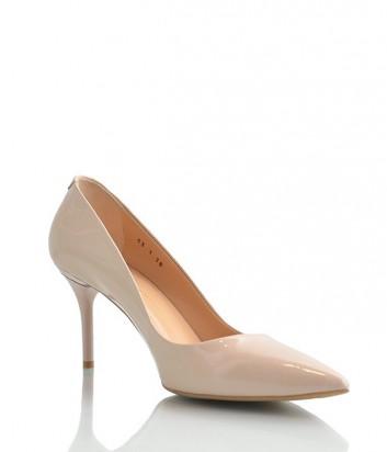 Лаковые туфли-лодочки Paoletti на среднем каблуке нюдовые