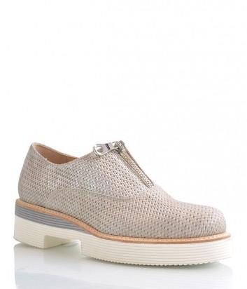 Женские туфли Laura Bellariva из натуральной текстурной кожи бежевые