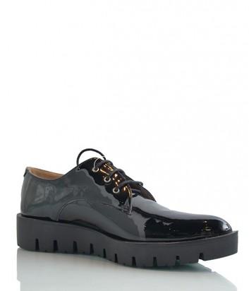 Классические лаковые туфли с заостренным носом черные