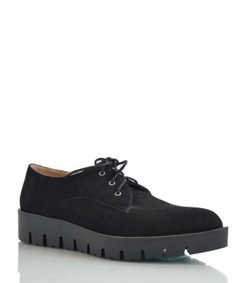 Классические замшевые туфли с заостренным носом черные