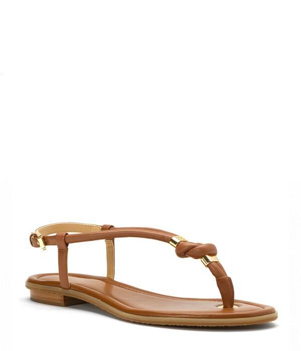 Кожаные сандалии Michael Kors Holly рыжие