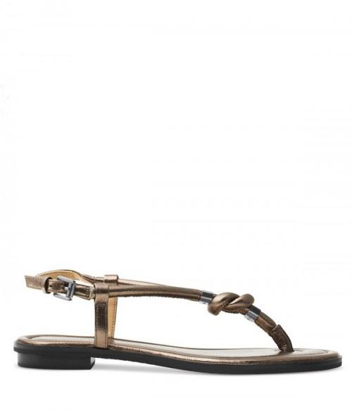 Кожаные сандалии Michael Kors Holly бронзовые