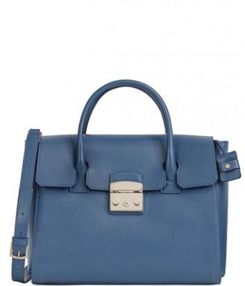 Кожаная сумка Furla Metropolis 839345 синяя