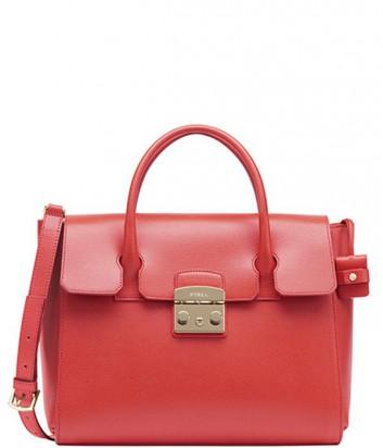 Кожаная сумка Furla Metropolis 834263 красная