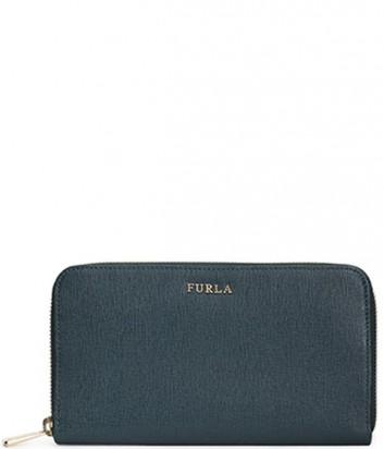 Кожаное портмоне Furla Babylon 827997 на молнии зеленое