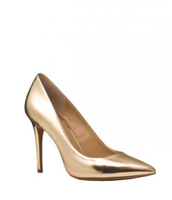 Кожаные туфли-лодочки Michael Kors Claire золотые
