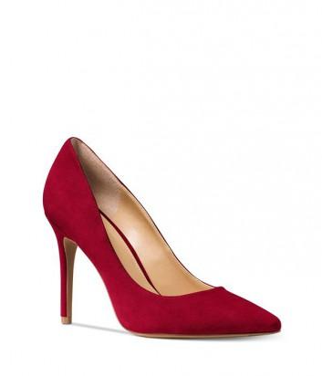 Замшевые туфли-лодочки Michael Kors Claire вишневые