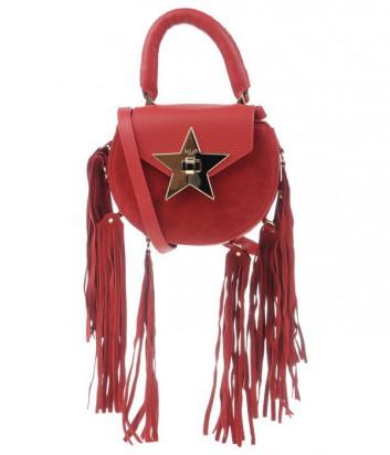 Сумка с бахромой Salar Mimi замок в виде звезды красная