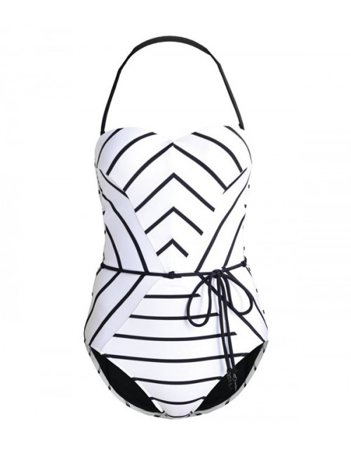 Цельный купальник Seafolly Stripe белый