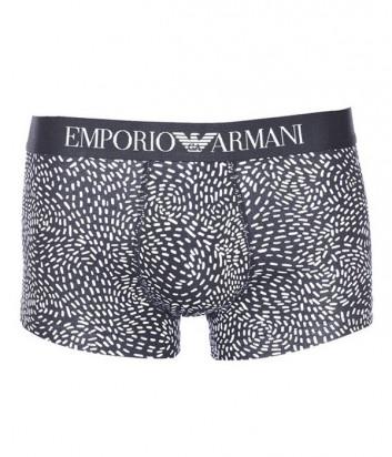 Боксеры Emporio Armani с абстрактным принтом и логотипом на поясе