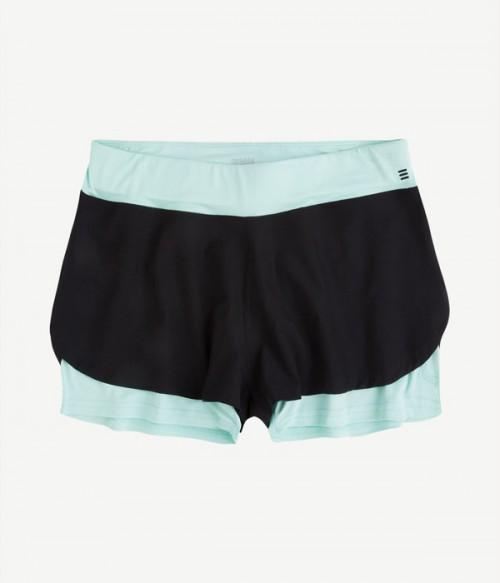Спортивные шорты Gisela Move 6014 черно-голубые