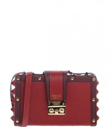 Сумка Salar Lou Box Bag бордовая