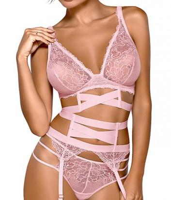Комплект Ewa Bien Safona мягкое бюстье B910 и стринги C213 розовый