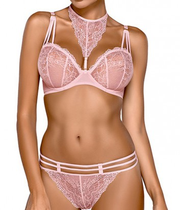 Комплект Ewa Bien Safona мягкий бюст B119 и стринги C212 розовый