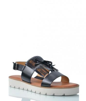 Кожаные сандалии 635 черные
