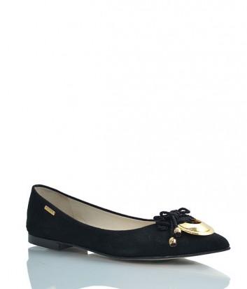 Замшевые балетки Loriblu 094 черные
