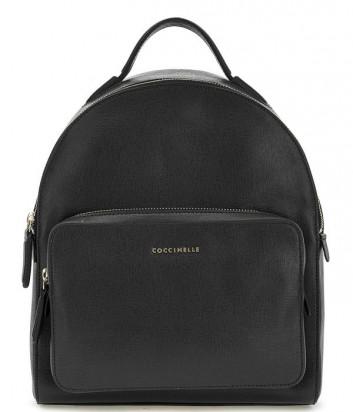 Большой рюкзак Coccinelle Clementine из сафьяновой кожи черный