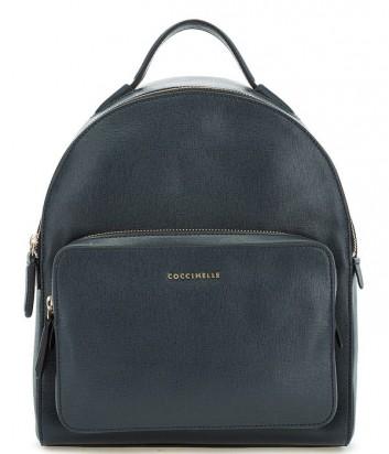 Большой рюкзак Coccinelle Clementine из сафьяновой кожи синий