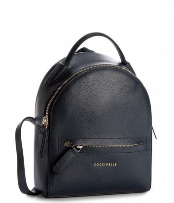 Маленький рюкзак Coccinelle Clementine в мягкой коже синий