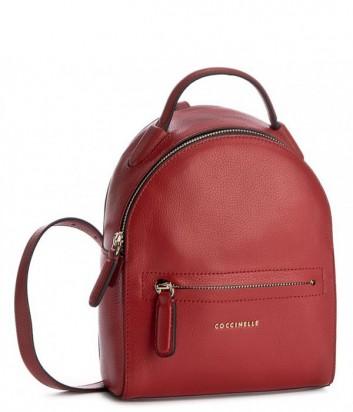 Маленький рюкзак Coccinelle Clementine в мягкой коже красный