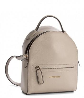 Маленький рюкзак Coccinelle Clementine в мягкой коже бежевый