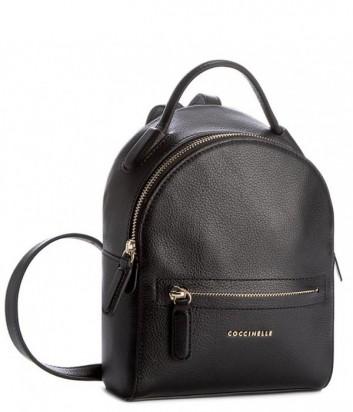 Маленький рюкзак Coccinelle Clementine в мягкой коже черный