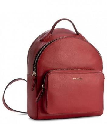 Большой рюкзак Coccinelle Clementine в мягкой коже красный