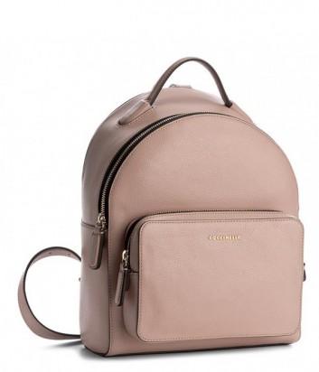 Большой рюкзак Coccinelle Clementine в мягкой коже розовый
