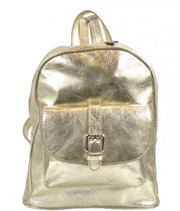 Кожаный рюкзак Nila&Nila золотой