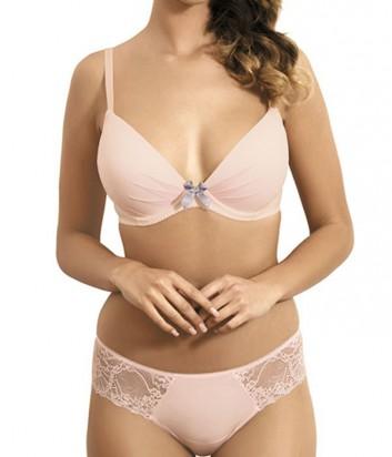 Комплект Kinga Aura бюстгальтер формованный и стринги розовый