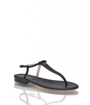 Кожаные сандалии Escada черные