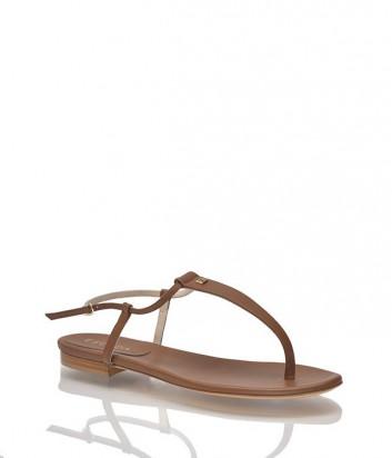 Кожаные сандалии Escada коричневые