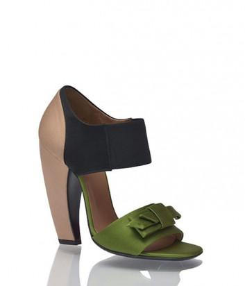 Сатиновые туфли Prada комбинированные