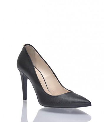 Кожаные туфли-лодочки Trussardi черные