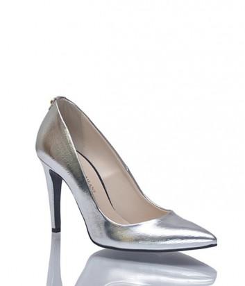 Кожаные туфли-лодочки Trussardi серебряные