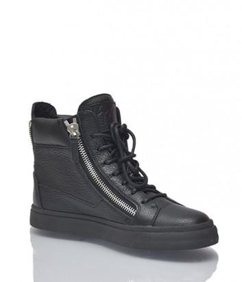 Кожаные ботинки Giuseppe Zanotti черные