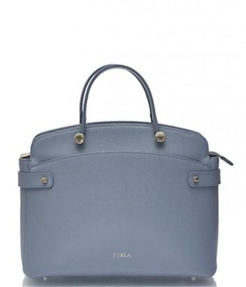 Кожаная сумка Furla Agata синяя