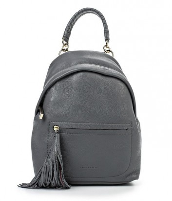 Кожаный рюкзак Coccinelle Leonie серый