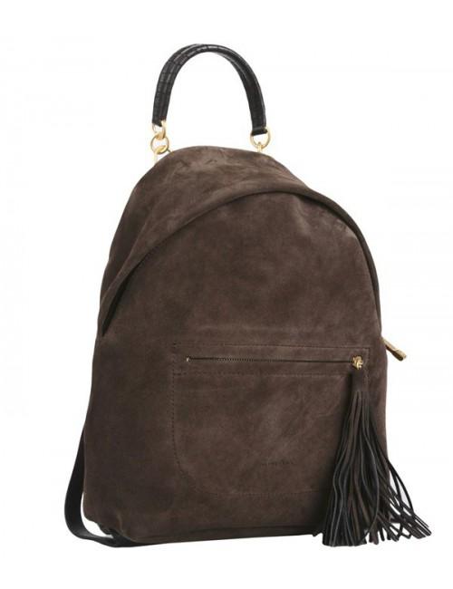 Замшевый рюкзак Coccinelle Leonie большой коричневый