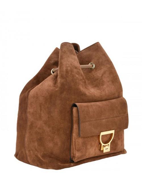 Замшевый рюкзак Coccinelle Arlettis коньячный