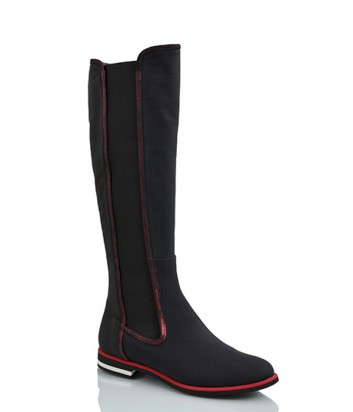 Кожаные сапоги Griff Italia 2073 с эластичной вставкой черные