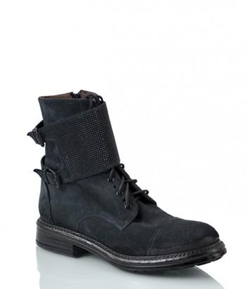 Замшевые ботинки NOW 2182 темно-синие