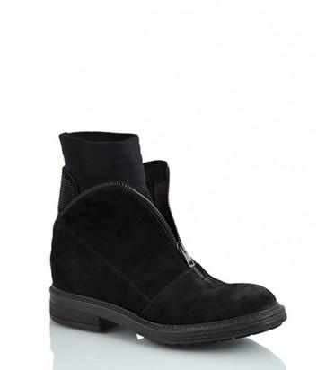 Замшевые ботинки NOW 2196 с эффектом потертости черные
